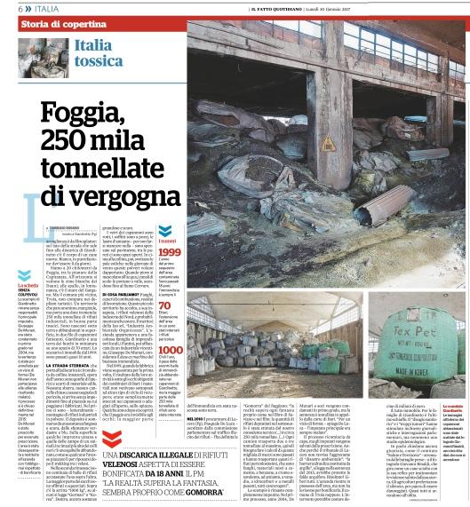 """""""Foggia, 250.000 tonnellate di vergogna"""", di Tommaso Rodano"""